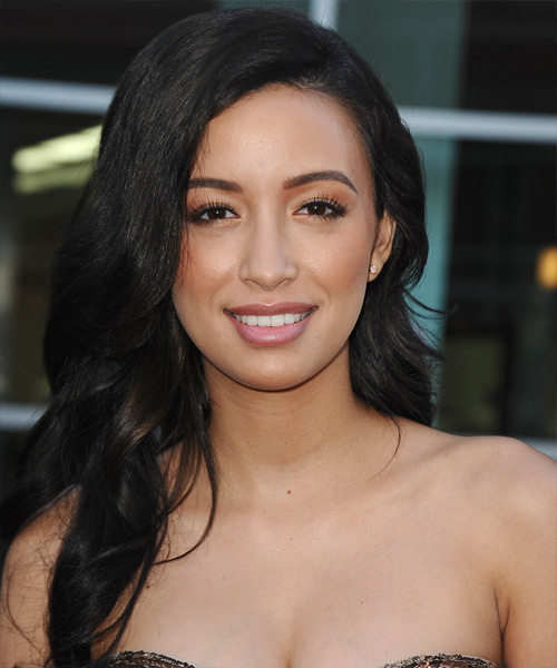 Christina Serratos Long Wavy Formal Hairstyle
