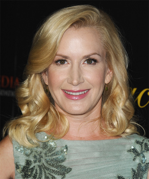 Angela Kinsey Medium Wavy Formal Hairstyle