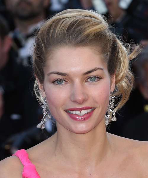 Jessica Hart Formal Curly Updo Hairstyle