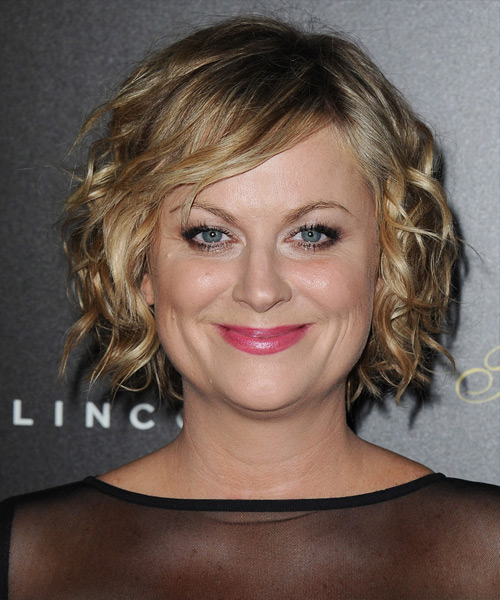 Amy Poehler Short Wavy Casual