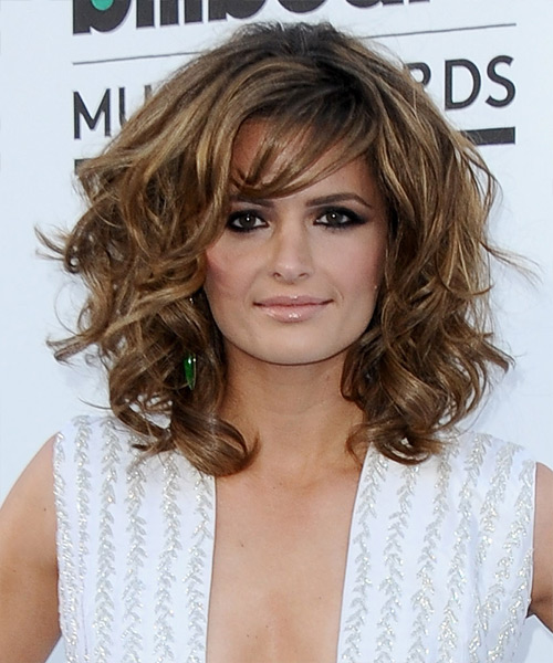 Stana Katic Medium Wavy Formal Hairstyle