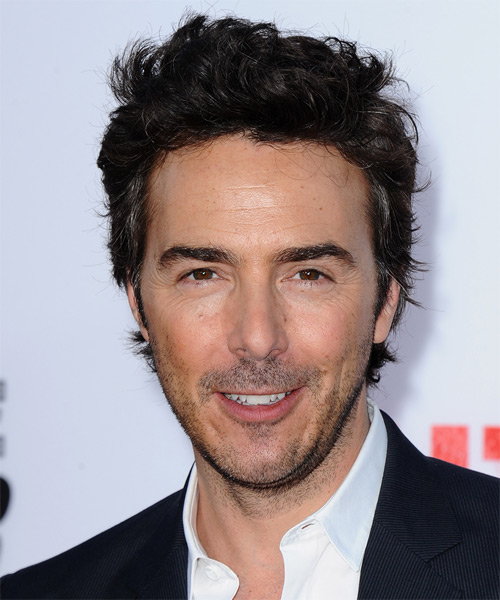 Shawn Levy Short Wavy Hairstyle - Black