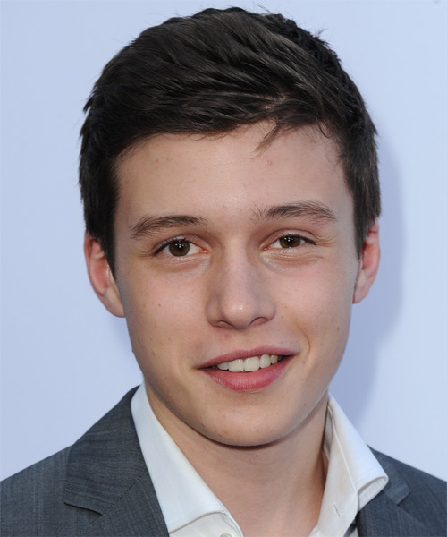 Nick Robinson Short Straight Hairstyle - Dark Brunette