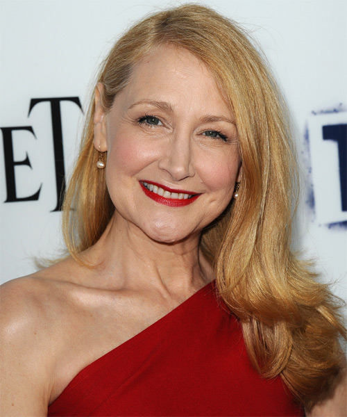 Patricia Clarkson Long Straight Hairstyle - Medium Blonde (Copper)