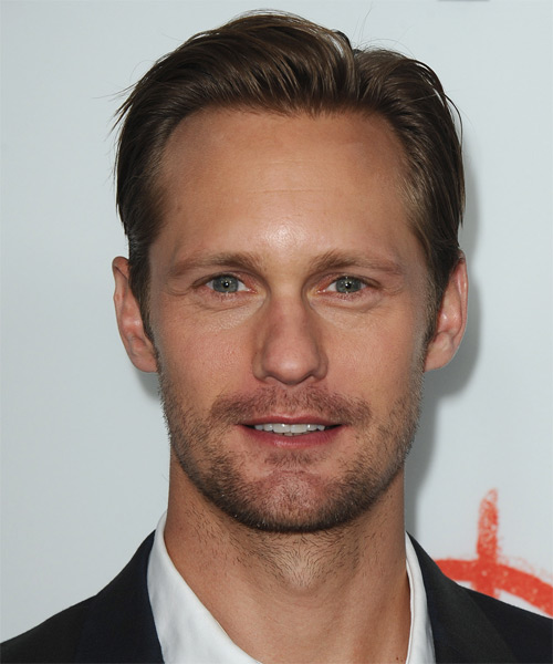 Alexander Skarsgard Short Straight Formal Hairstyle - Medium Brunette Hair Color