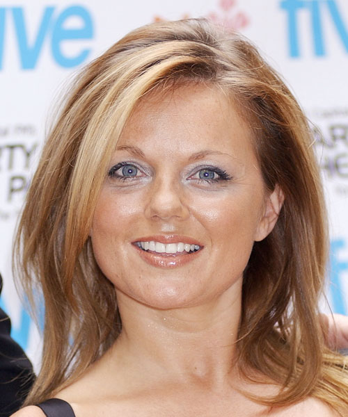 Geri Halliwell - Casual Long Straight Hairstyle