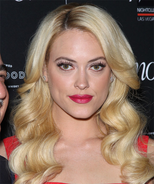 Peta Murgatroyd Long Wavy Formal Hairstyle - Light Blonde Hair Color