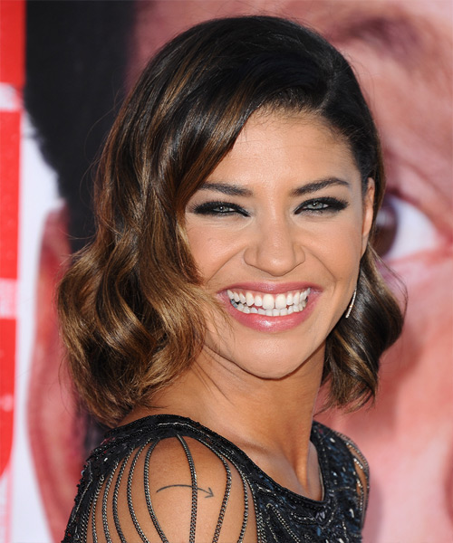 Jessica Szohr Medium Wavy Formal Hairstyle - Dark Brunette Hair Color