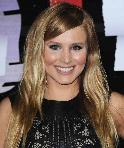 Kristen Bell Long Straight Casual Hairstyle - Dark Blonde Hair Color