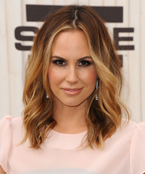 Keltie Colleen Medium Wavy Casual Hairstyle - Dark Blonde Hair Color