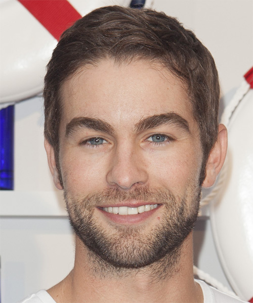 Chase Crawford Short Straight Casual Hairstyle - Light Brunette (Chestnut) Hair Color