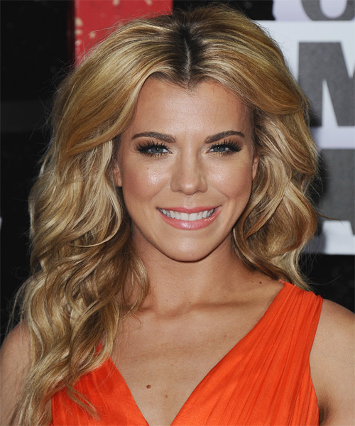 Kimberly Perry Long Wavy Hairstyle - Dark Blonde (Golden)