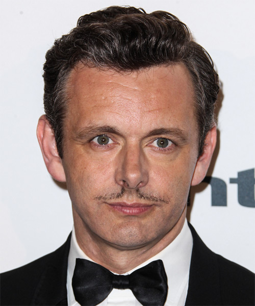 Michael Sheen Short Wavy Hairstyle - Medium Brunette