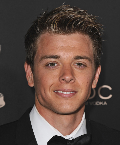 Chad Duell Short Straight Casual Hairstyle - Dark Brunette Hair Color