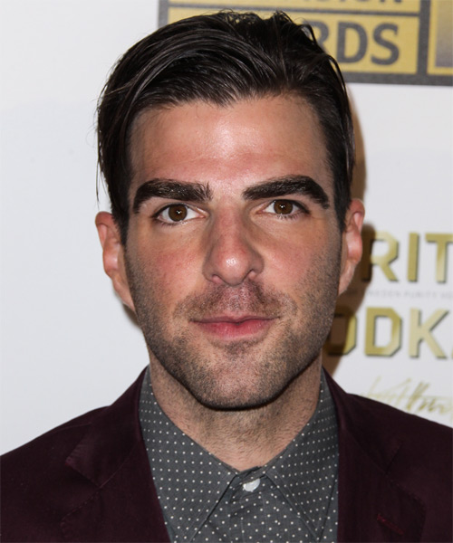 Zachary Quinto Short Straight Formal Hairstyle - Dark Brunette (Mocha) Hair Color