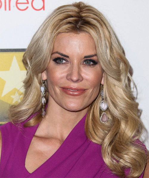 McKenzie Westmore Long Wavy Formal Hairstyle - Medium Blonde (Champagne) Hair Color