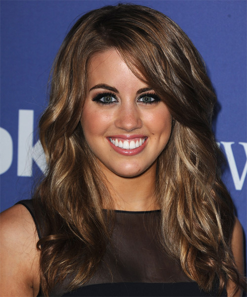 Angie Miller Long Wavy Casual Hairstyle
