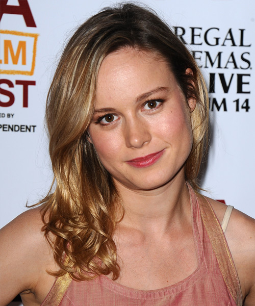 Brie Larson Long Straight Casual Hairstyle - Dark Blonde Hair Color
