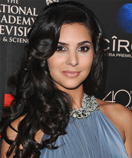 Camila Banus Long Wavy Formal Hairstyle - Black Hair Color