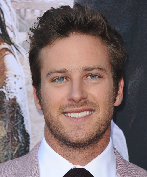 Armie Hammer Short Straight Casual Hairstyle - Medium Brunette Hair Color