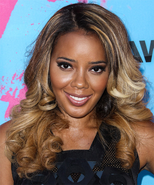 Angela Simmons Long Wavy Hairstyle