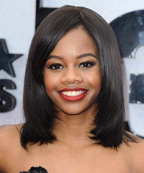 Gabrielle Douglas Medium Straight Formal Hairstyle
