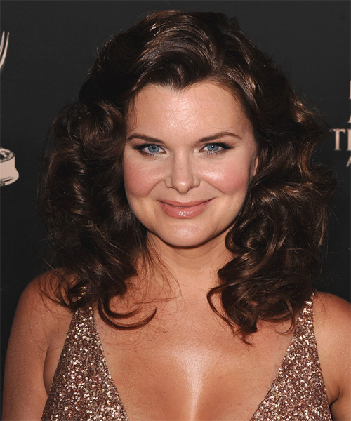 Heather Tom Medium Wavy Formal Hairstyle