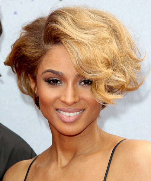Ciara Short Wavy Hairstyle