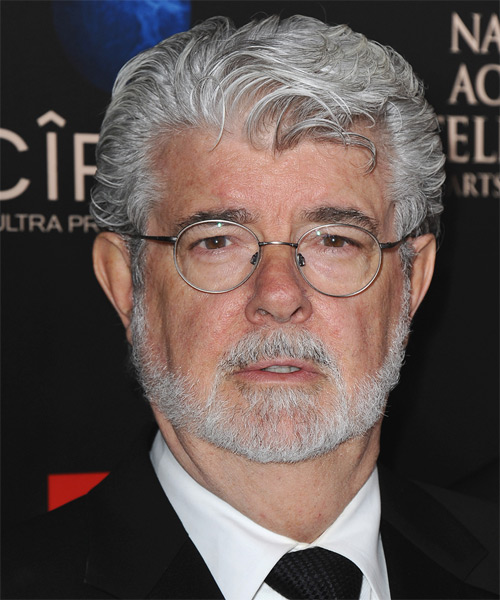 George Lucas Short Wavy Formal Hairstyle