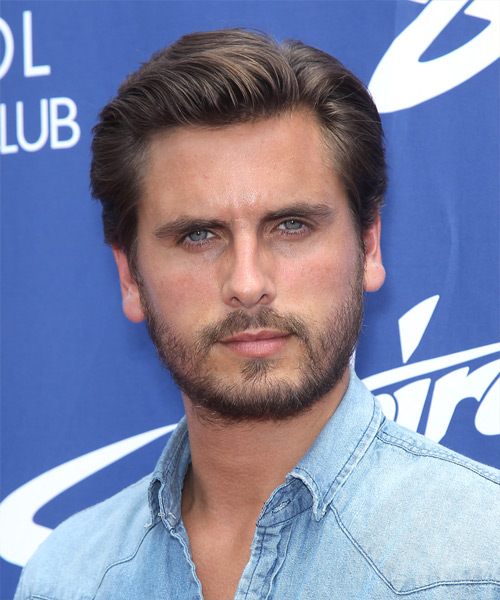 Scott Disick Short Straight Hairstyle