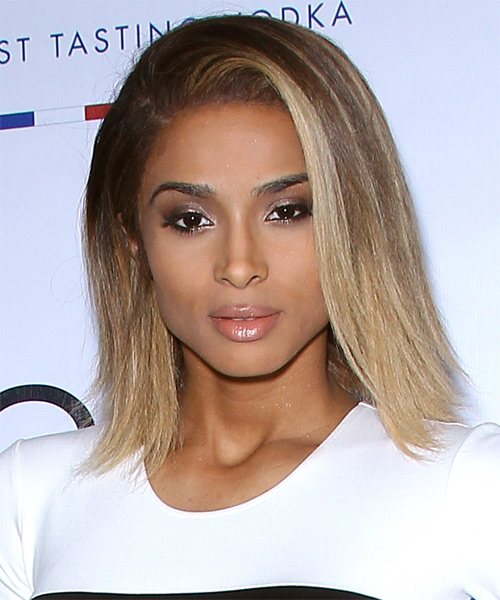 Ciara Medium Straight Casual Hairstyle