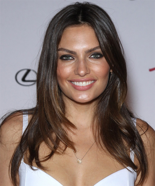 Alyssa Miller Long Straight Hairstyle