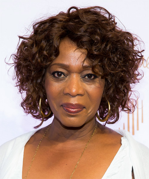 Alfre Woodard Short Curly Casual Hairstyle