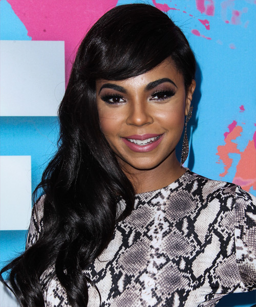 Ashanti Long Wavy Casual Hairstyle