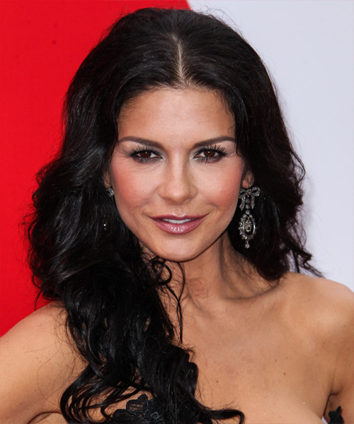Catherine Zeta Jones Long Wavy Formal Hairstyle