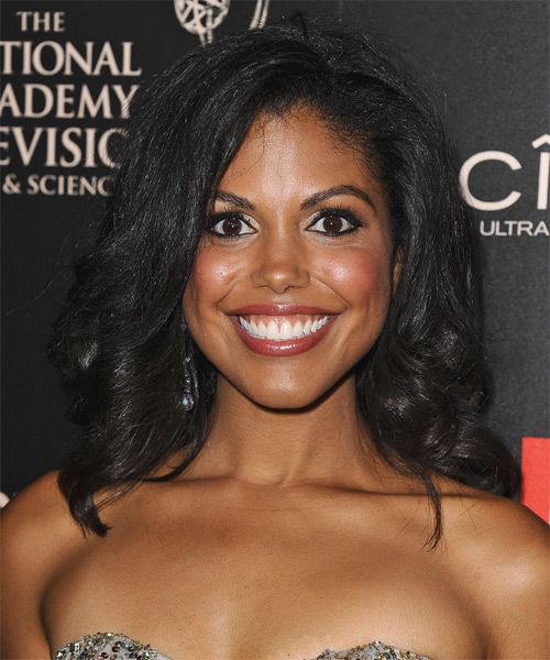 Karla Mosley Medium Wavy Formal Hairstyle