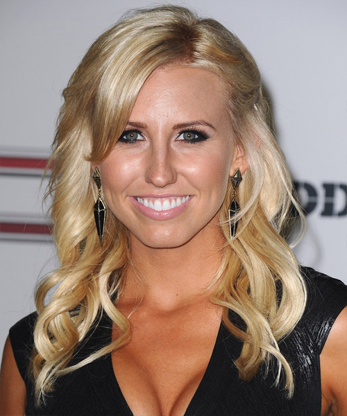 Courtney Force Long Wavy Hairstyle