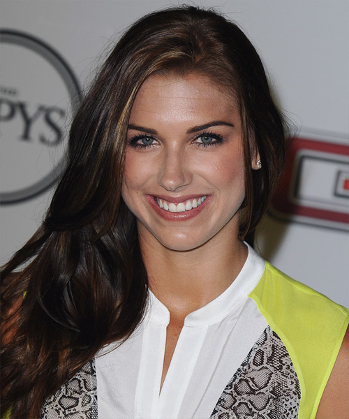 Alex Morgan Long Straight Casual Hairstyle