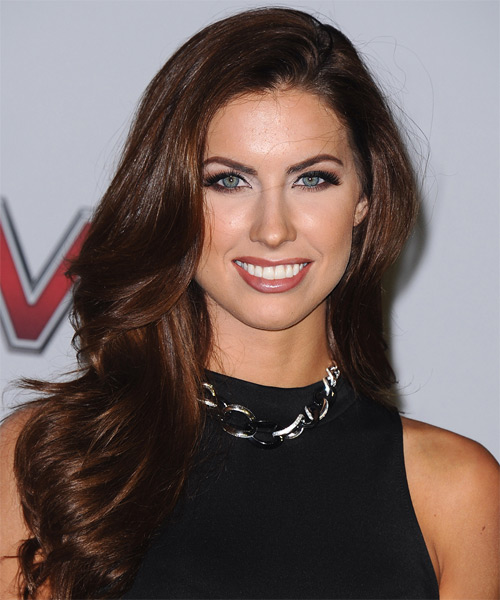 Katherine Webb Long Straight Hairstyle