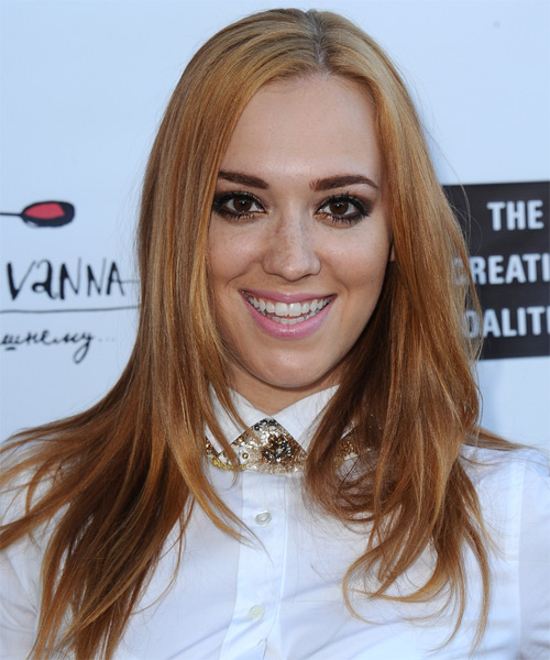 Andrea Bowen Long Straight Hairstyle
