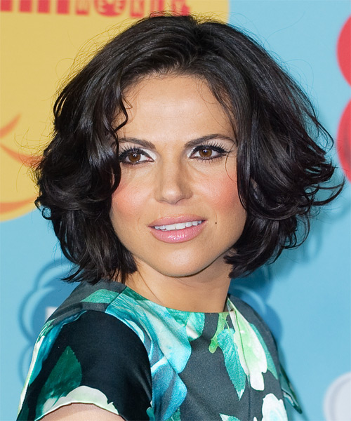 Lana Parrilla Medium Straight Hairstyle