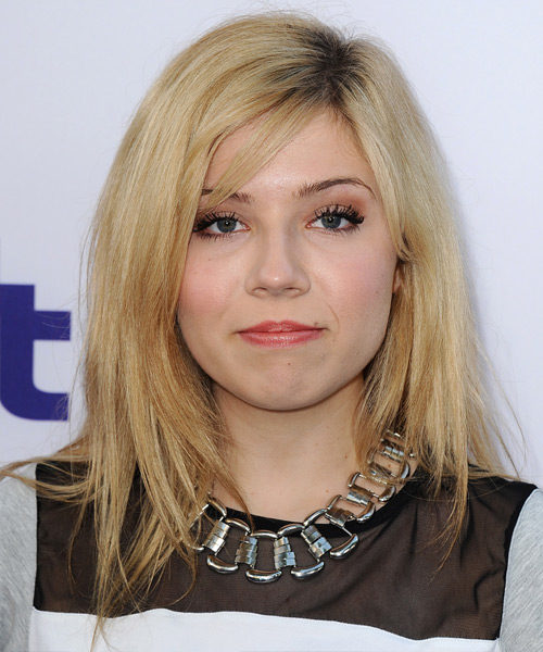 Jennette McCurdy Long Straight Hairstyle - Medium Blonde