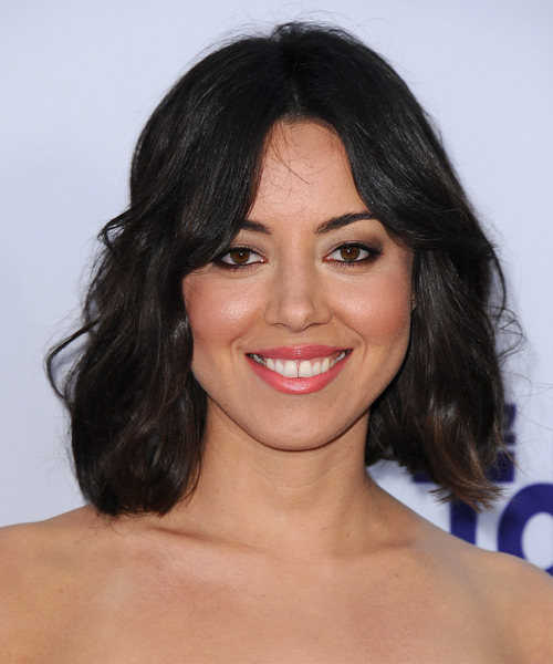 Aubrey Plaza Medium Straight Casual