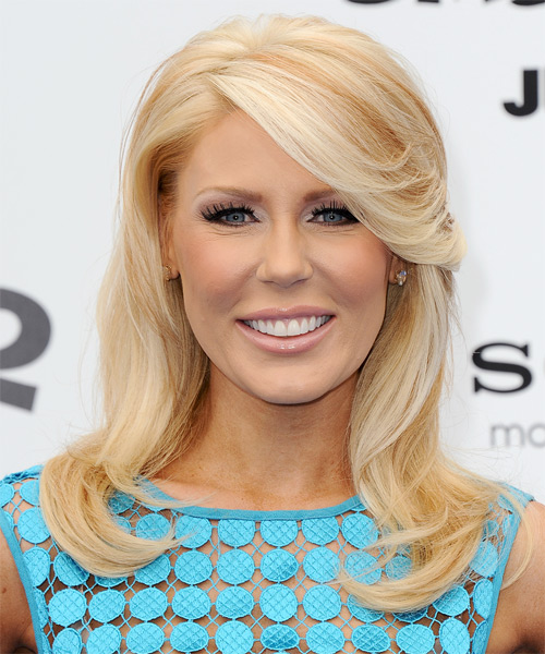 Gretchen Rossi Long Straight Formal Hairstyle - Light Blonde (Strawberry) Hair Color