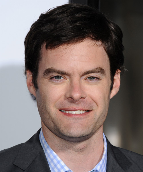 Bill Hader Short Straight Hairstyle - Dark Brunette (Mocha)