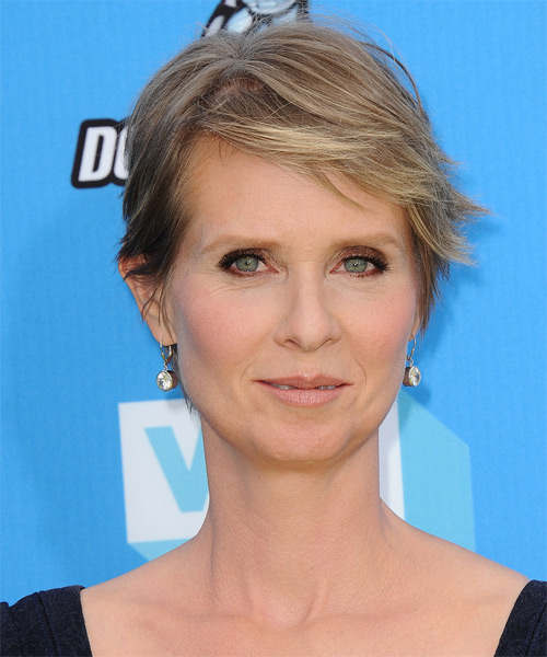 Cynthia Nixon Short Straight Hairstyle
