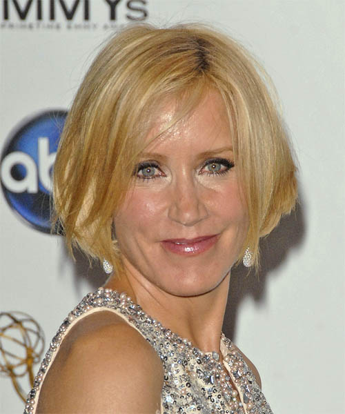 Felicity Huffman Short Straight Hairstyle