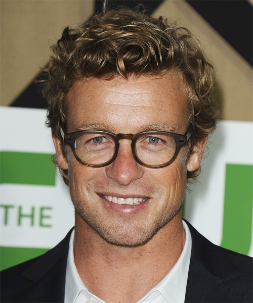 Simon Baker Short Curly Casual