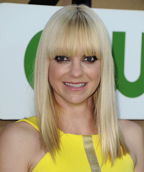 Anna Faris Long Straight Casual