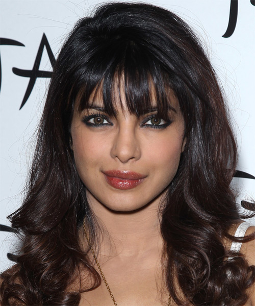 Priyanka Chopra Long Wavy Formal Hairstyle